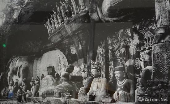 宝顶山大佛湾第11号《释迦涅槃圣迹图》 中国营造学社 1940年