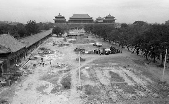 1982年,故宫开展古建保养修缮工程,北京