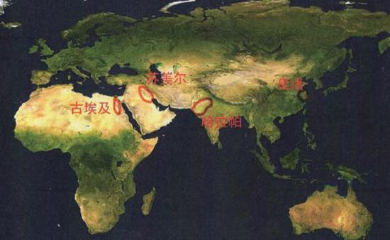 良渚文明同时代的世界早期文明