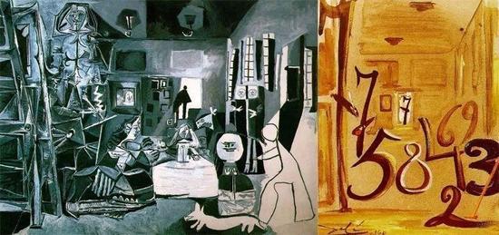 ▲ 左毕加索,右达利