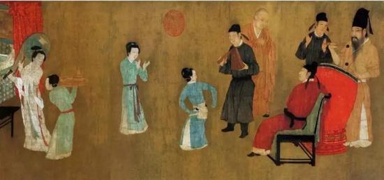 五代 顾闳中 《韩熙载夜宴图》局部