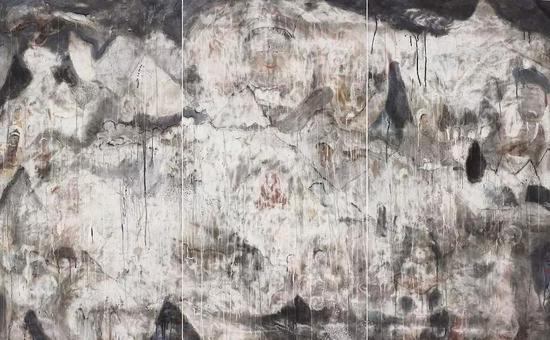 无生,纸本水墨,180x291cm,2019