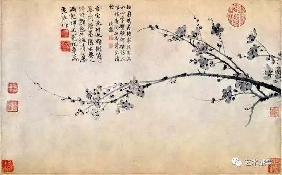 (庞元济旧藏 王冕《墨梅图轴》)