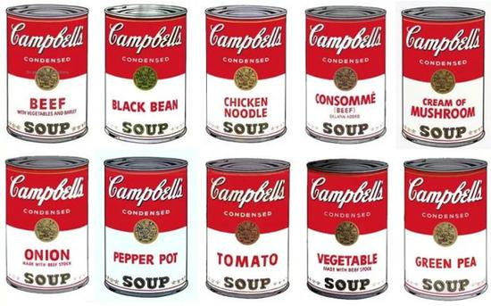 Andy Warhol Campbell's Soup I full suite was printed in 1968