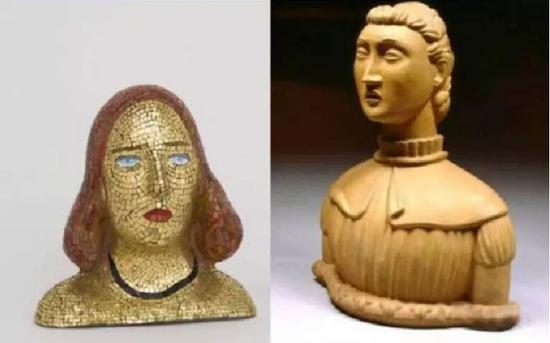 左:封塔纳1940年作品《Portrait of Teresita》