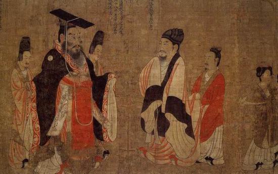 阎立本《历代帝王图》(局部)