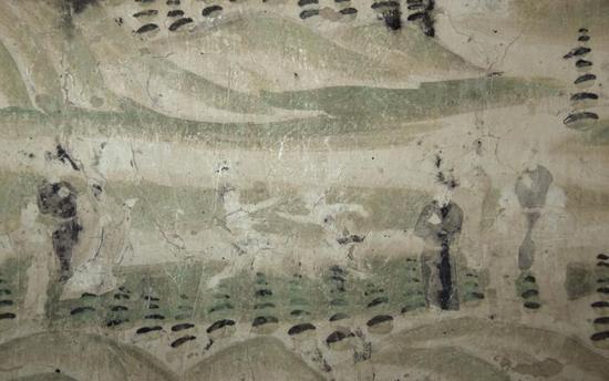 敦煌石窟的运动壁画。