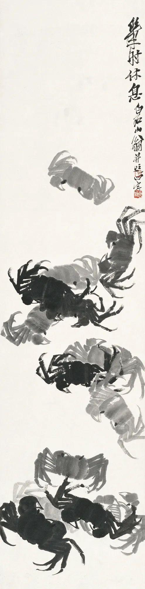 齐白石早年画的螃蟹什么样?