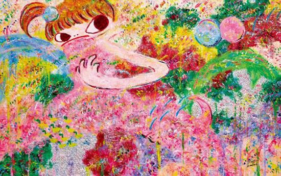 六角彩子《无题》 2015年作 压克力画布 120.5×190.3 cm。 成交价:HK$ 1,062,000 刷新艺术家作品拍卖纪录