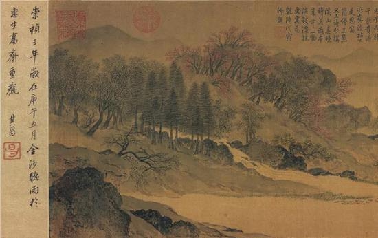 宋 (传)惠崇 《江南春图》卷(原名《溪山春晓图》)故宫博物院藏