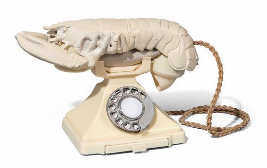 白色版龙虾电话,1938年,Salvador Dalí