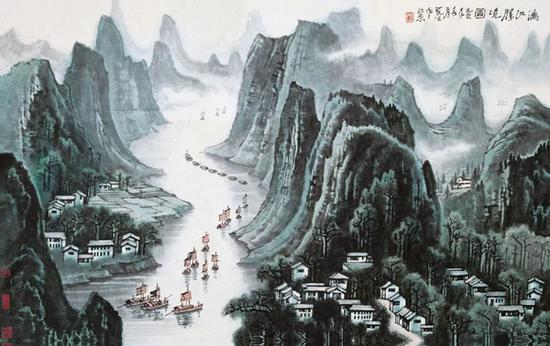 李可染《漓江胜境图》1977年作