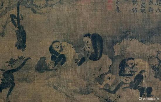 易元吉《聚猿图》