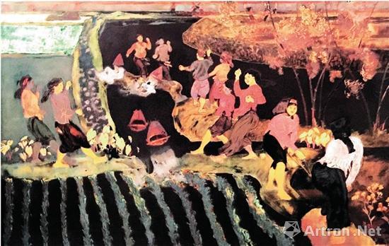 越南现代美术的代表:磨漆画浅谈