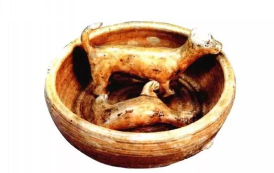 西晋婺州窑青釉狗圈,1975年浙江金华西晋墓出土,现藏金华市博物馆