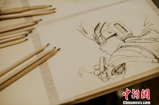 """""""动漫原画特展——一支铅笔诞生的世界""""展品 钟欣 摄"""