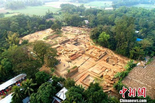 鸟瞰纳提什瓦遗址。湖南省文物考古研究所供图