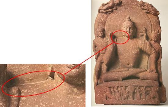 阿希切特拉坐佛像(迦腻色伽32年铭坐像)