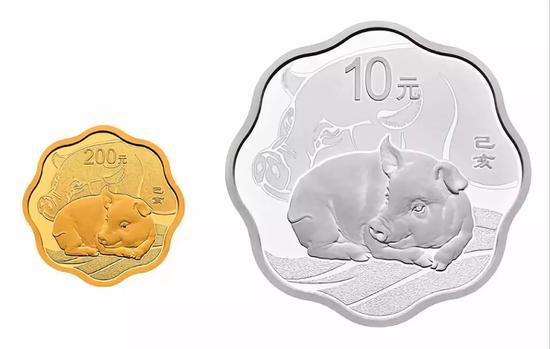 二等奖2名:猪年生肖彩金银币一套(3克金+30克银)