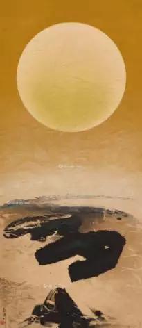 刘国松 1970-1971年作 '地 153.1×66.7cm