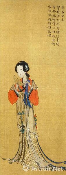 明代画家笔下的乐昌公主像(《中国历代仕女画集》,图59)