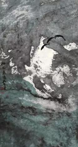 周韶华 2009年作 海之奏鸣178×95cm