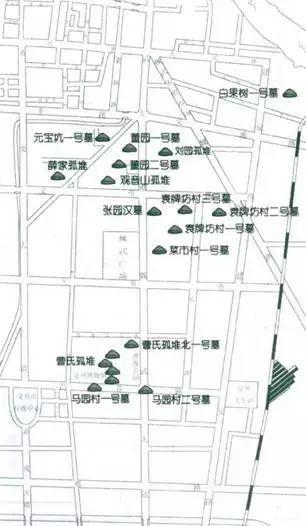 亳州·曹操宗族墓群分布示意图