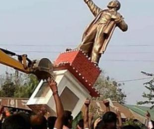 印兴起砸雕像之风 有雕像已经被砸烂当地总理已经做出正面回应