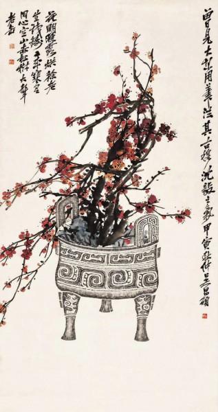吴昌硕笔下的花卉题材