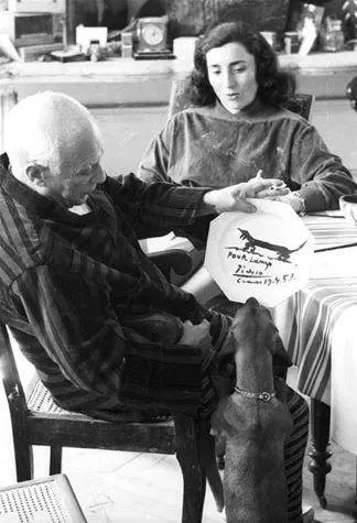巴勃罗·毕加索与兰普。图片: David Douglas Duncan
