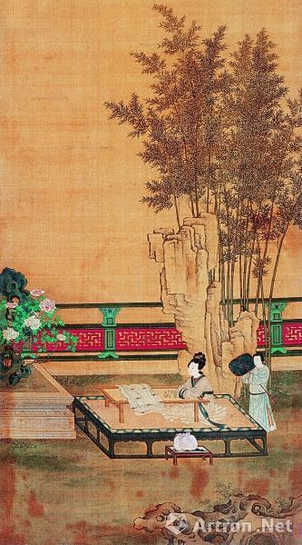 《竹林仕女图》 佚名