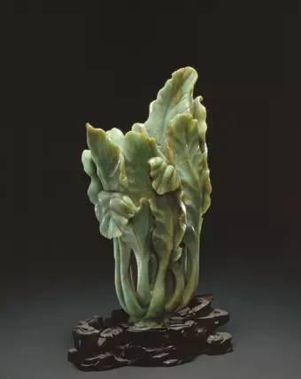 翠玉白菜式花插
