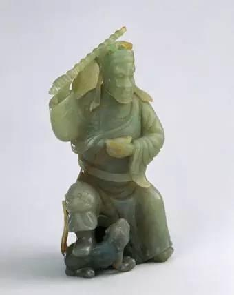 翠雕天官像