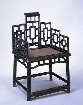 乌木七屏卷书式扶手椅 高82.5cm,长52cm,宽41cm