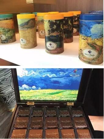 还有各色精致糕点、咖啡(你能看出来源于哪幅画啵?)