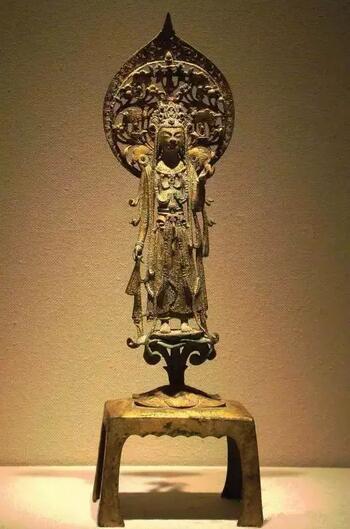 隋代 6世纪 金铜造像如势至菩萨立像