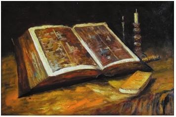 《有〈圣经〉的静物》