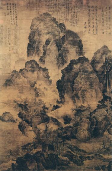 《临流独坐图》北宋 范宽 绘(台北故宫博物院藏)