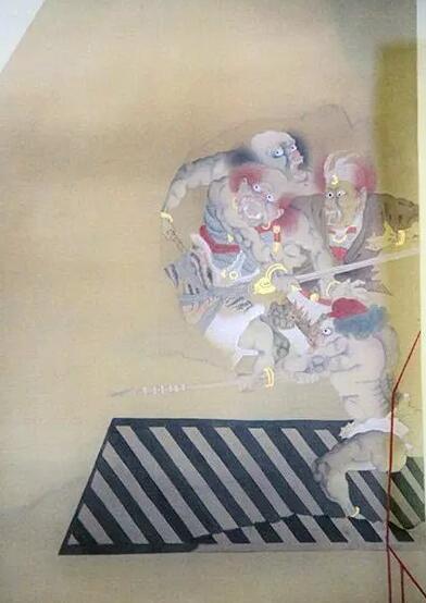 """""""盘古大陆""""展览区域中国艺术家滕腾《故事新编》系列作品(局部)"""