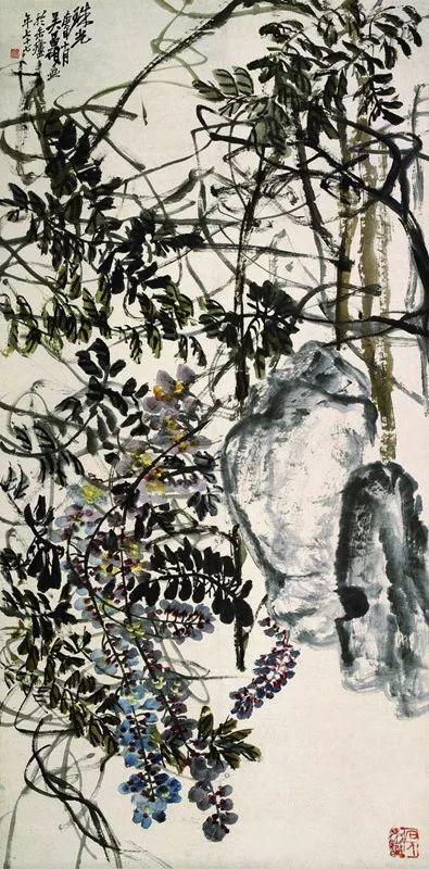 《珠光》,吴昌硕,77岁作品