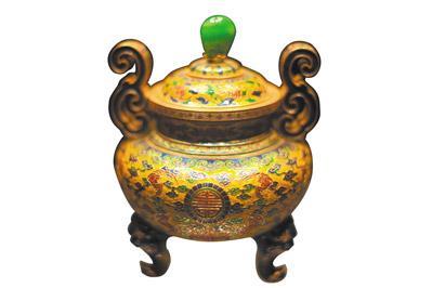清乾隆时期广州工匠制作并进献宫廷的珐琅金鼎