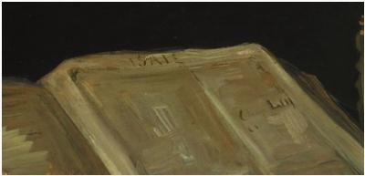 《有〈圣经〉的静物》中标注章节的细节