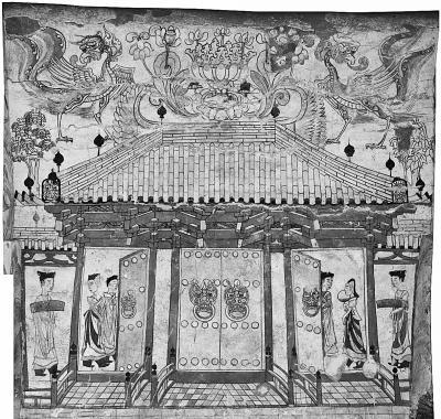 《忻州九原岗北朝壁画墓墓道北壁壁画》(局部)上海博物馆提供