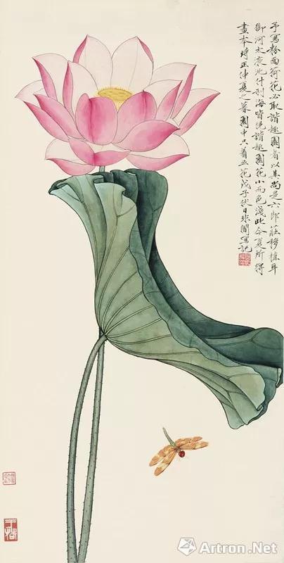 于非� 《荷花蜻蜓》 207万 北京翰海2017年秋拍