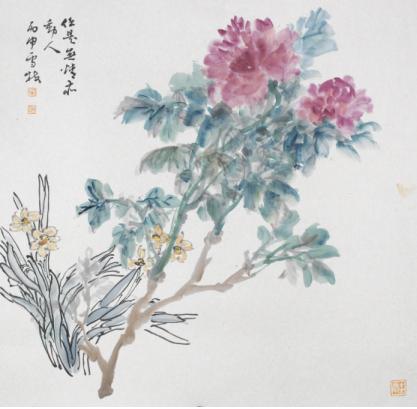 《任是无情亦动人》 纸本/50cm×50cm/2016年