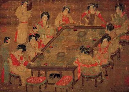 唐 《宫乐图》 台北故宫博物院