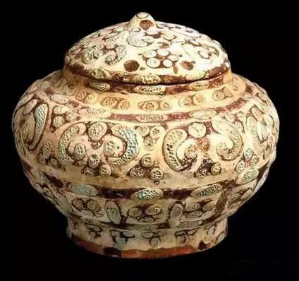 战国时代 公元前5-公元前3世纪 彩釉壶