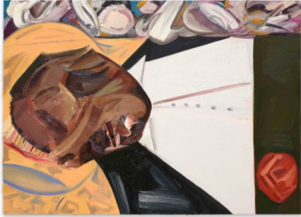 Dana Schutz,《打开的棺材》(Open Casket,2016),布面油画。图片: Collection of the artist;courtesy Petzel,New York