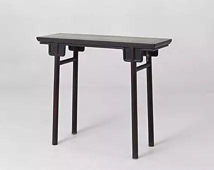 紫檀条桌 清早期   高82cm,长99cm,宽35cm