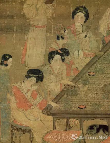 唐 佚名 《宫乐图》(局部)